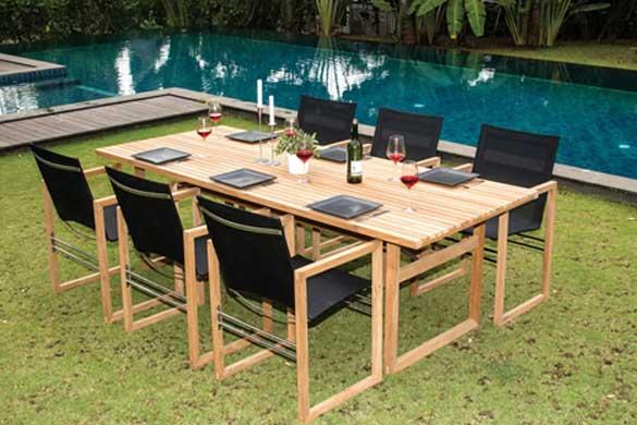 Table de repas extérieure CUBE
